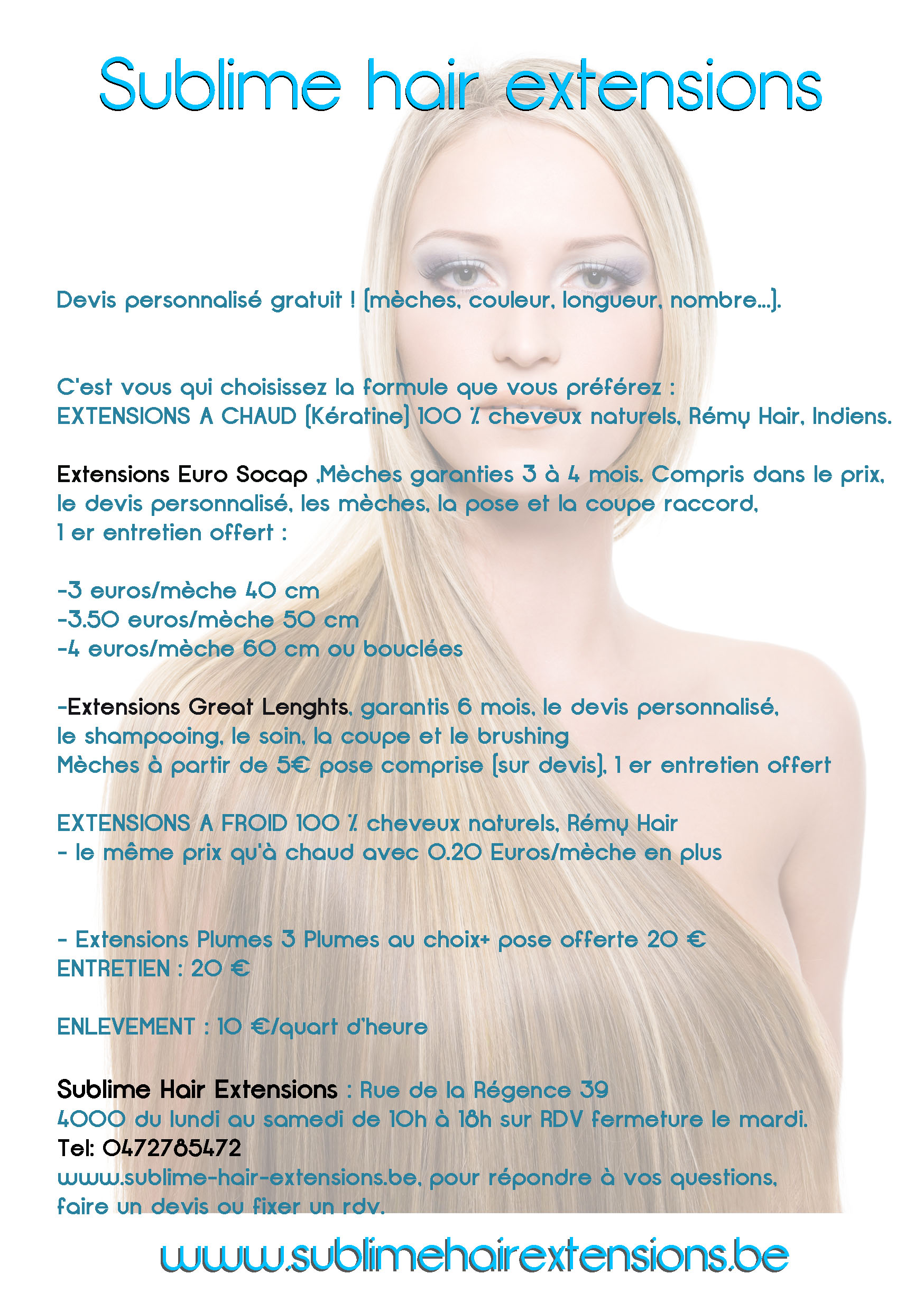 Tarif extensions cheveux naturels great lengh euro socap for Tarif extension