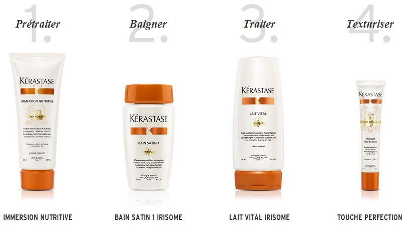 Kérastase Liège nutritive bain satin lait vital irisome touche perfection