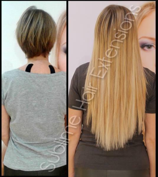 extension adhésive cheveu court