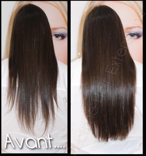 extensions adhésives tape cheveux fin